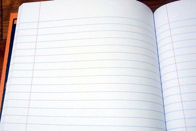 ちなみにノートはこんな感じ。紙質は通常使っているノートと変わりません