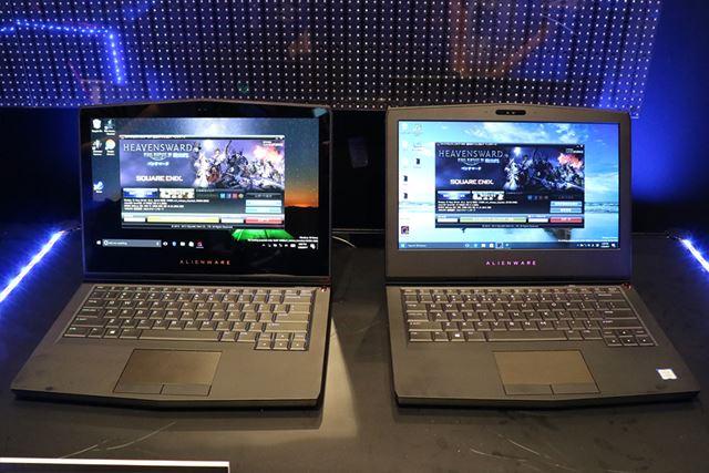 左がOLEDモデル、右が液晶モデル。OLEDモデルはマルチタッチ対応