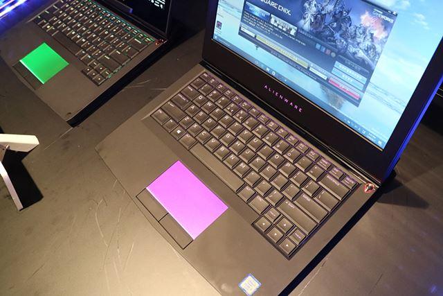 2.2mmのキーストロークを確保したキーボード