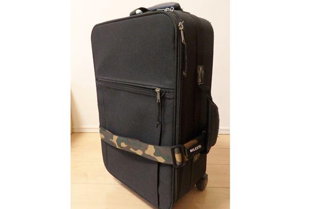 一見普通のスーツケースベルトですが