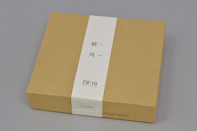 DF-10のパッケージ。イヤホンのパッケージとしては比較的大きい