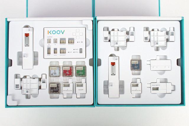 ロボットを動かすのに使用する電子パーツ。ホワイトを基調としたシンプルなデザインとなっている