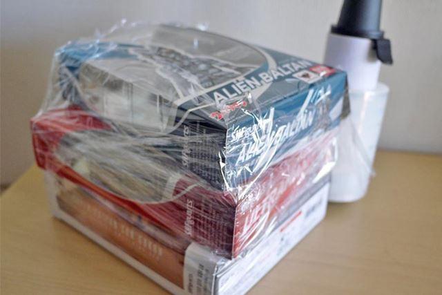 柔らかい素材の箱などもつぶさずに梱包できて便利です