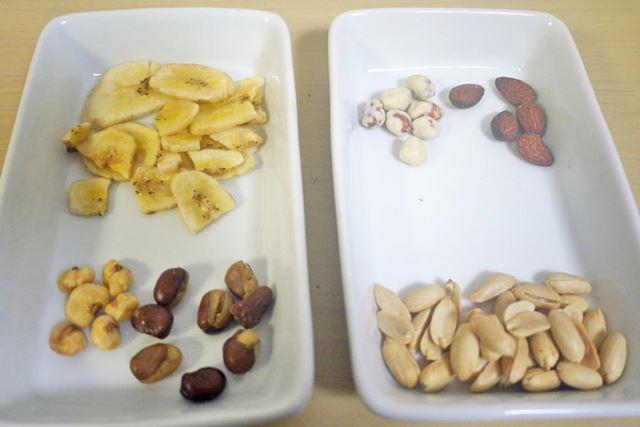 小粒のナッツがぎっしり詰まっています