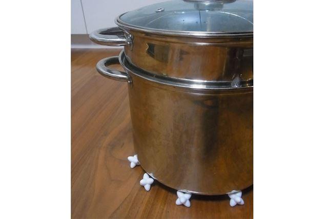 きれいに並べて鍋を置くとちょっとおしゃれでしょ♪