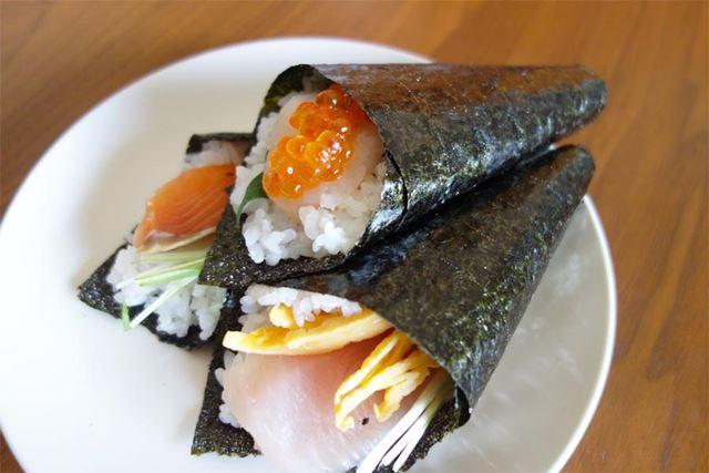ひな祭りといえば手巻き寿司パーティーが筆者宅の定番