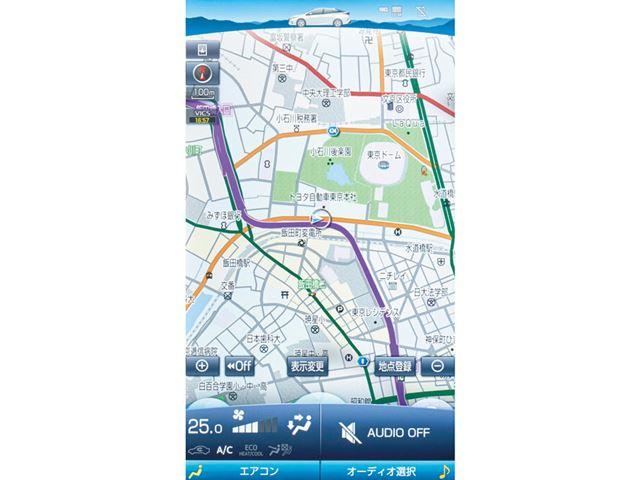 タブレットライクな縦長の大画面で地図などを表示できる