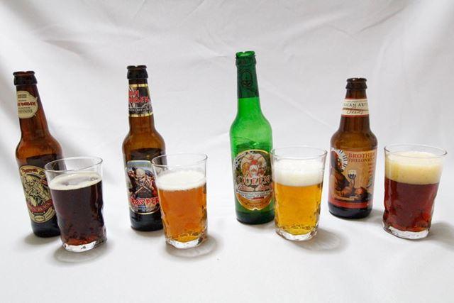 同じビールとはいえ、色合いはそれぞれ!