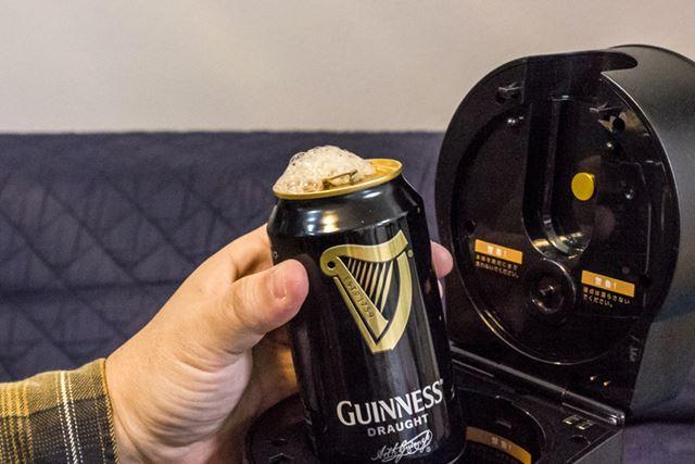 筆者は黒ビールも好きなので、黒くてマイルドな泡というのを作りたかったのだが……