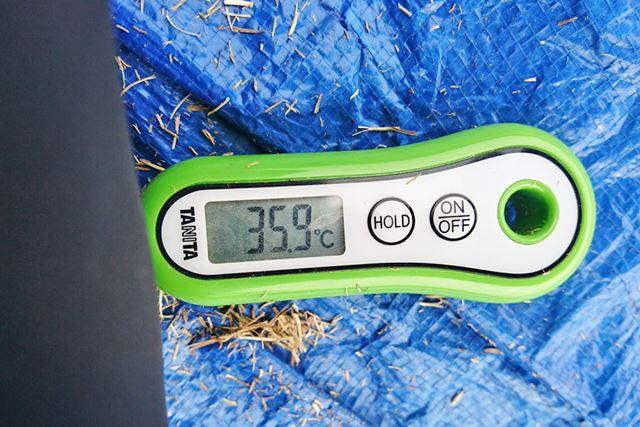 人肌の温度をキープ