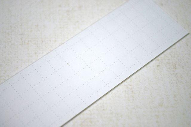 裏面は点線が格子状に書かれています