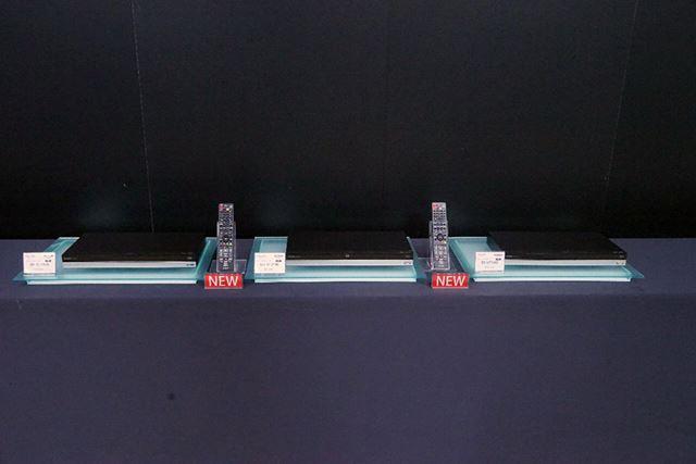 シャープの発売する「AQUOSブルーレイ」の最新モデル「BD-UT3100」「BD-UT2100」「BD-UT1100」