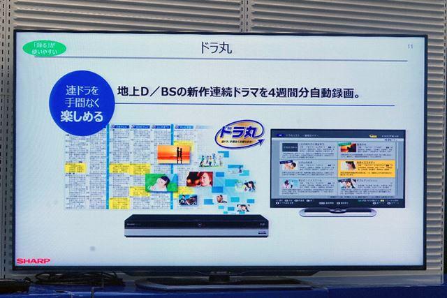 地上デジタルとBSデジタルの新作連続ドラマを自動録画してくれる人気の「ドラ丸」の機能も搭載