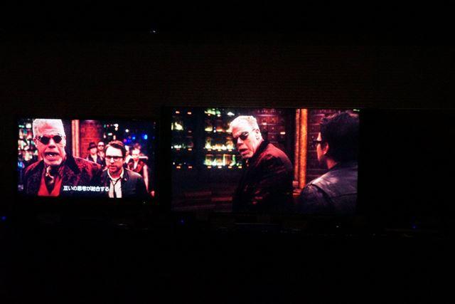 Ultra HD Blu-rayの映像(右)の画質は圧勝だ