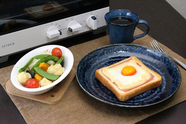 高級トースターブーム×朝ごはんブーム! ST-G111の 同時調理機能のおかげで、朝から食欲増進です