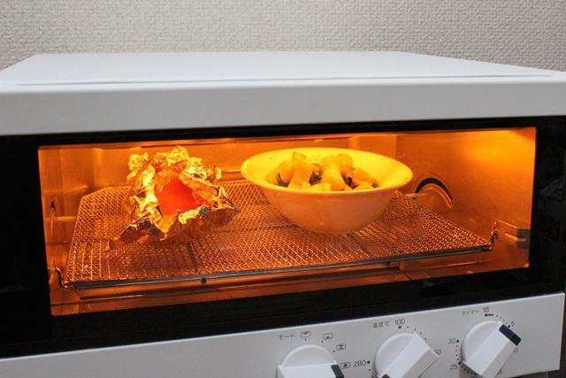 コンベクションコースを選択して、温度は280℃、タイマーを5分で稼動させてみます