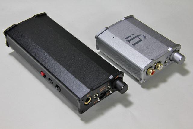 iFI Audioの「micro iDSD BL」(左)と「nano iDSD LE」(右)