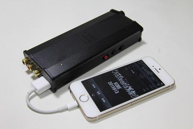 今回は「Lightning - USBカメラアダプターケーブル」を使ってiPhoneを直接接続した
