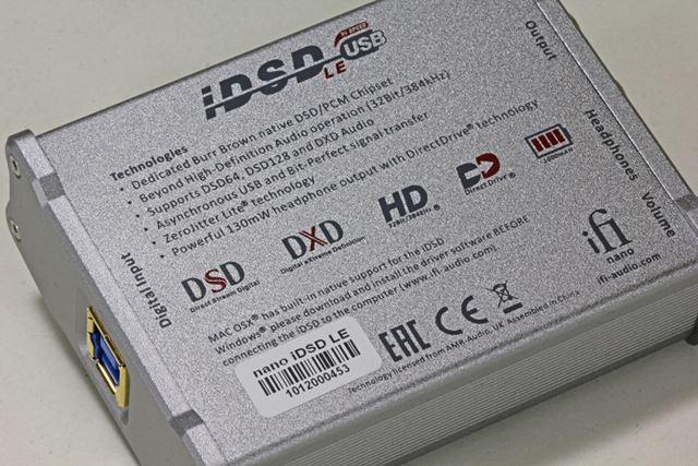 機能を絞ったはいえ、リニアPCMは384kHz/32bit、DSDは5.6MHzまで対応と、なかなかにハイスペックだ