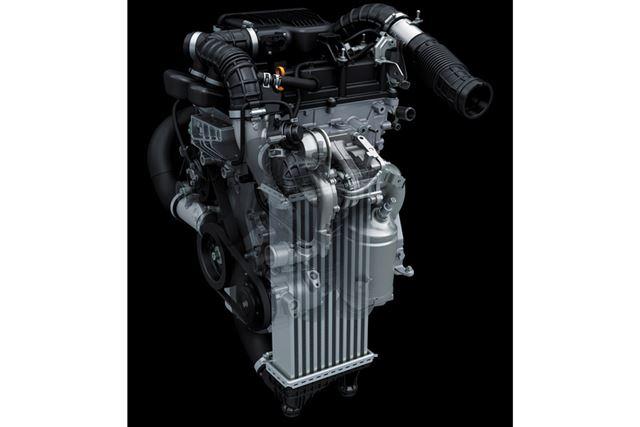最高出力102馬力の1リッター3気筒ターボ「K10C型ブースタージェット」エンジンは、RStグレード専用