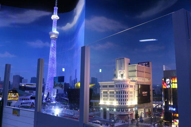 銀座の和光に、東京スカイツリー。ライトアップの再現度の高さには感服いたしました