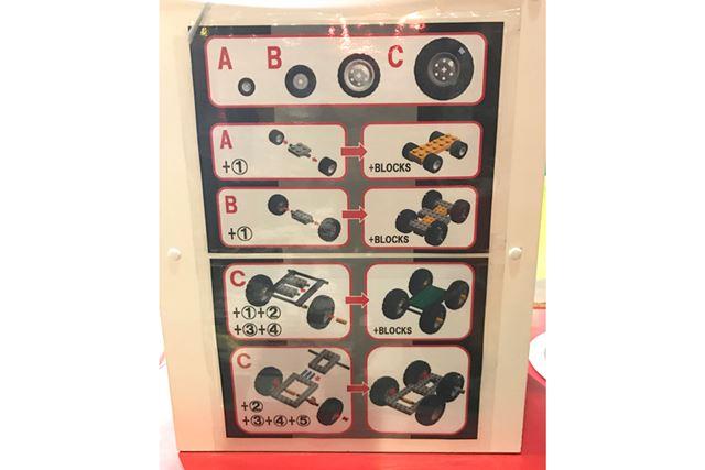 基本的な車の組み立て方は掲示されているので、初めてでも挑戦しやすいですね