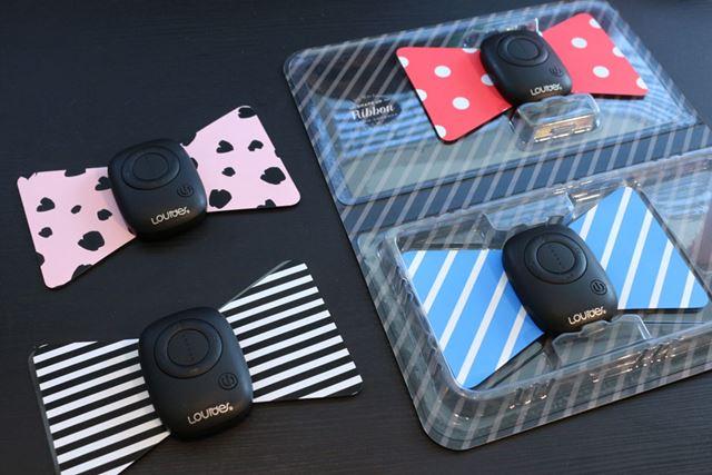 ブラック×ピンク(左)と、レッド×ブルー(右)の2色を用意。柄が違うセットってかわいいですね