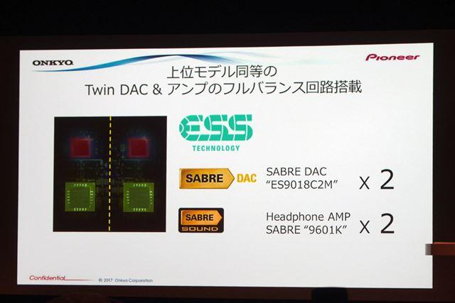 DACとアンプは、昨日発売されたGRANBEAT DP-CMX1と同じ構成