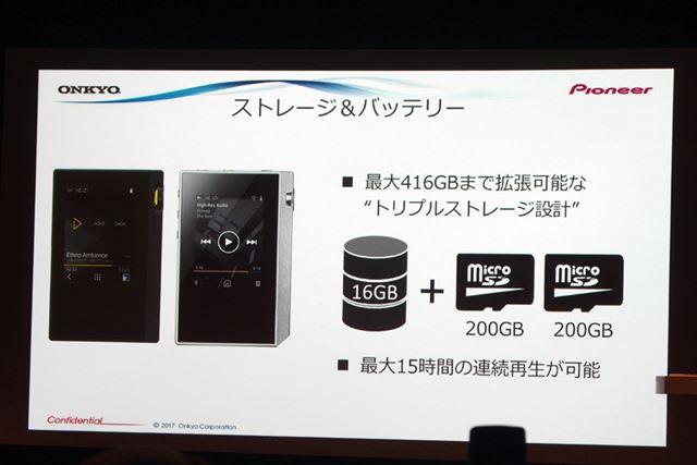 ストレージは最大416GBまで拡張できる