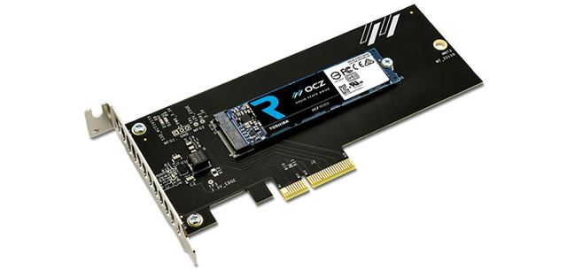 PCI Express x4接続の拡張スロット用の変換カードを同梱した「RD400A」