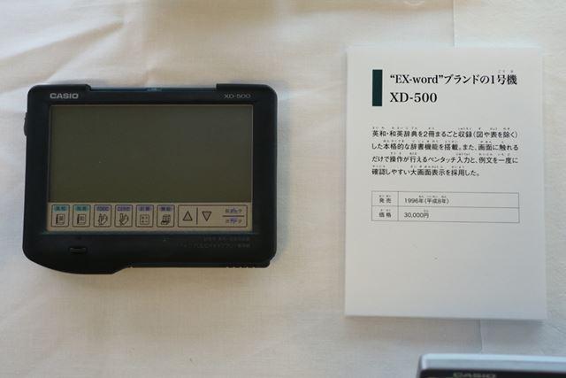 1996年に発売した電子辞書「EX-word」の1号機「XC-500」