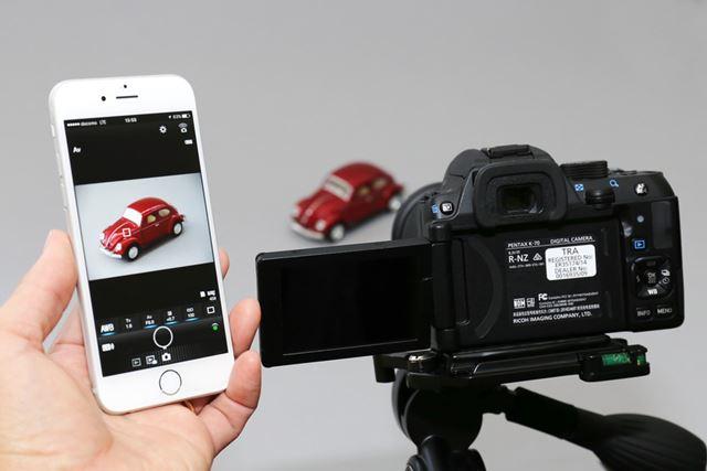 Wi-Fiを搭載し、スマートフォンからのリモート撮影も可能です
