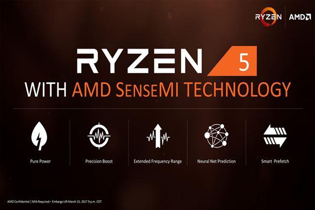 「Ryzen 7」と同じく、「AMD SenseMIテクノロジー」のフル機能をサポート