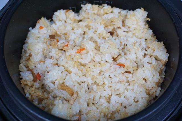 理想どおりの食感が得られましたが、炊き上がってから混ぜても味は均等になりませんでした