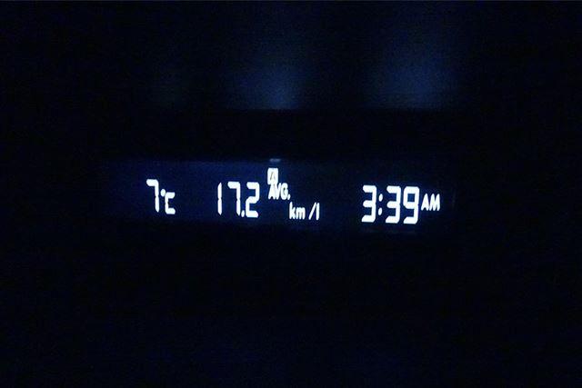 まずは妥当な燃費を記録